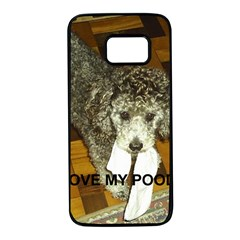Poodle Love W Pic Silver Samsung Galaxy S7 Black Seamless Case