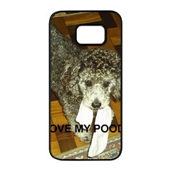 Poodle Love W Pic Silver Samsung Galaxy S7 edge Black Seamless Case