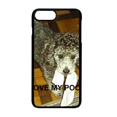 Poodle Love W Pic Silver Apple iPhone 7 Plus Seamless Case (Black)