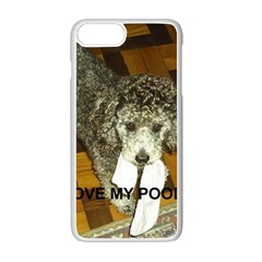 Poodle Love W Pic Silver Apple iPhone 7 Plus White Seamless Case
