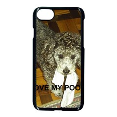 Poodle Love W Pic Silver Apple iPhone 7 Seamless Case (Black)