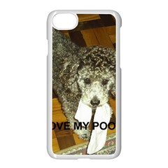 Poodle Love W Pic Silver Apple iPhone 7 Seamless Case (White)