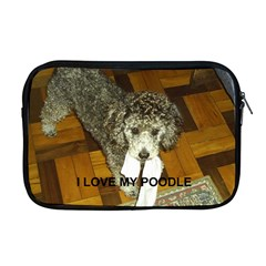 Poodle Love W Pic Silver Apple MacBook Pro 17  Zipper Case