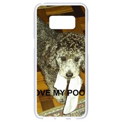 Poodle Love W Pic Silver Samsung Galaxy S8 White Seamless Case