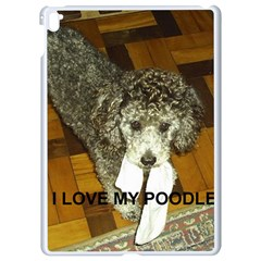 Poodle Love W Pic Silver Apple iPad Pro 9.7   White Seamless Case