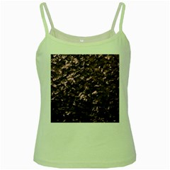 Pink Rainbow Shimmering Mother of Pearl Green Spaghetti Tank