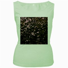 Pink Rainbow Shimmering Mother of Pearl Women s Green Tank Top