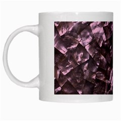 Pink Rainbow Shimmering Mother of Pearl White Mugs