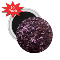 Pink Rainbow Shimmering Mother of Pearl 2.25  Magnets (10 pack)
