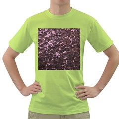 Pink Rainbow Shimmering Mother of Pearl Green T-Shirt
