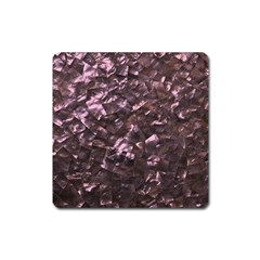 Pink Rainbow Shimmering Mother of Pearl Square Magnet
