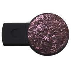 Pink Rainbow Shimmering Mother of Pearl USB Flash Drive Round (1 GB)