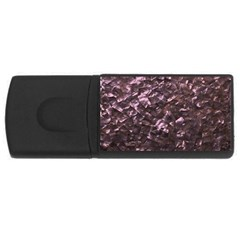 Pink Rainbow Shimmering Mother of Pearl USB Flash Drive Rectangular (2 GB)