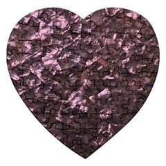 Pink Rainbow Shimmering Mother Of Pearl Jigsaw Puzzle (heart)