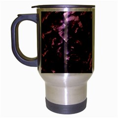 Pink Rainbow Shimmering Mother of Pearl Travel Mug (Silver Gray)