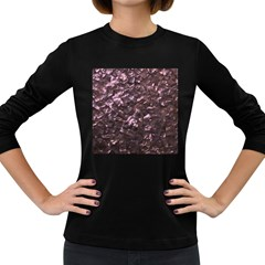 Pink Rainbow Shimmering Mother of Pearl Women s Long Sleeve Dark T-Shirts