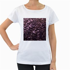 Pink Rainbow Shimmering Mother of Pearl Women s Loose-Fit T-Shirt (White)