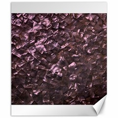 Pink Rainbow Shimmering Mother of Pearl Canvas 8  x 10