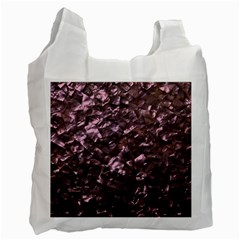 Pink Rainbow Shimmering Mother of Pearl Recycle Bag (One Side)