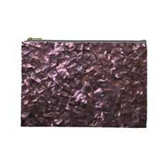 Pink Rainbow Shimmering Mother of Pearl Cosmetic Bag (Large)