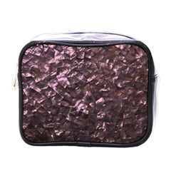 Pink Rainbow Shimmering Mother of Pearl Mini Toiletries Bags