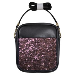 Pink Rainbow Shimmering Mother of Pearl Girls Sling Bags