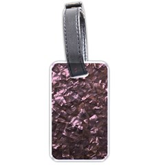 Pink Rainbow Shimmering Mother of Pearl Luggage Tags (Two Sides)