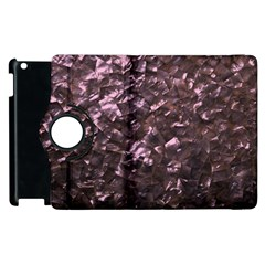Pink Rainbow Shimmering Mother of Pearl Apple iPad 2 Flip 360 Case