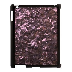 Pink Rainbow Shimmering Mother of Pearl Apple iPad 3/4 Case (Black)