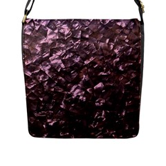 Pink Rainbow Shimmering Mother of Pearl Flap Messenger Bag (L)