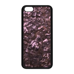 Pink Rainbow Shimmering Mother of Pearl Apple iPhone 5C Seamless Case (Black)