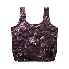 Pink Rainbow Shimmering Mother Of Pearl Full Print Recycle Bags (m)