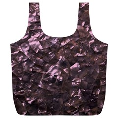 Pink Rainbow Shimmering Mother of Pearl Full Print Recycle Bags (L)