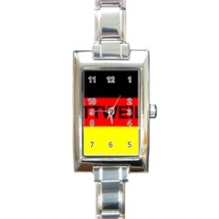 Rottweiler Name On Flag Rectangle Italian Charm Watch