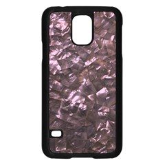 Pink Rainbow Shimmering Mother of Pearl Samsung Galaxy S5 Case (Black)