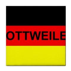 Rottweiler Name On Flag Tile Coasters