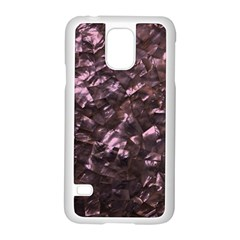 Pink Rainbow Shimmering Mother of Pearl Samsung Galaxy S5 Case (White)