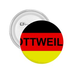 Rottweiler Name On Flag 2.25  Buttons