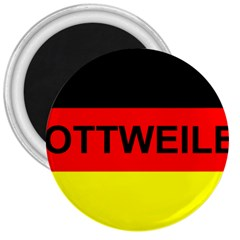 Rottweiler Name On Flag 3  Magnets