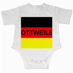 Rottweiler Name On Flag Infant Creepers