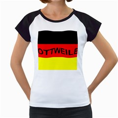 Rottweiler Name On Flag Women s Cap Sleeve T