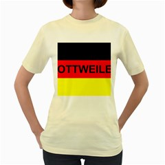 Rottweiler Name On Flag Women s Yellow T-Shirt