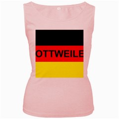 Rottweiler Name On Flag Women s Pink Tank Top