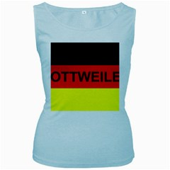 Rottweiler Name On Flag Women s Baby Blue Tank Top