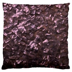Pink Rainbow Shimmering Mother of Pearl Large Flano Cushion Case (Two Sides)