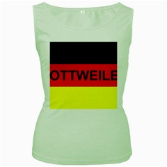 Rottweiler Name On Flag Women s Green Tank Top
