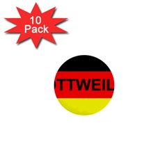 Rottweiler Name On Flag 1  Mini Buttons (10 pack)