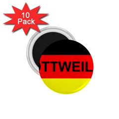 Rottweiler Name On Flag 1.75  Magnets (10 pack)
