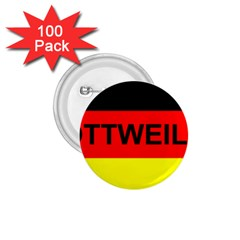 Rottweiler Name On Flag 1.75  Buttons (100 pack)