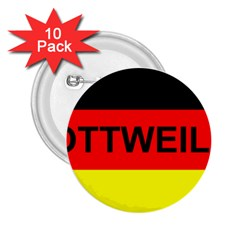 Rottweiler Name On Flag 2.25  Buttons (10 pack)